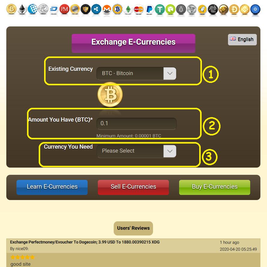 Exchange Cryptocurrency; Exchange Bitcoin, Ethereum, Ripple, Litecoin, Dogecoin, Tether, Perfectmoney