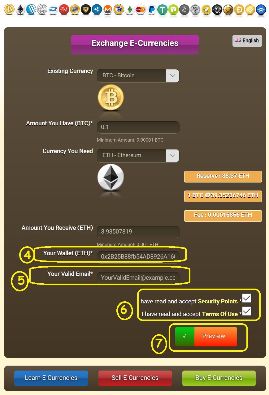 exchange bitcoin to ethereum